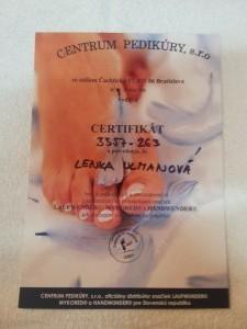 certifikát handwunder - Lenka Ulmanová