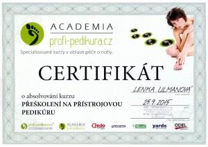 pedikurakyjov.cz - přeškolení na přístrojovou pedikúru