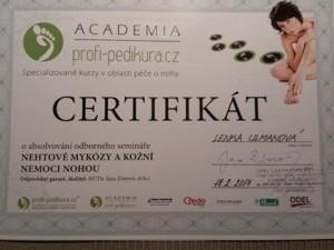 certifikat nehtove mykozy a kozni nemoci nohou